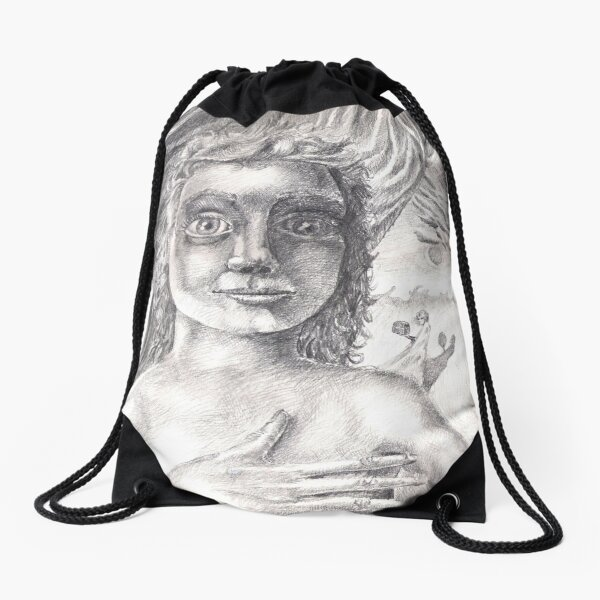 Pandora (the drawing) Drawstring Bag