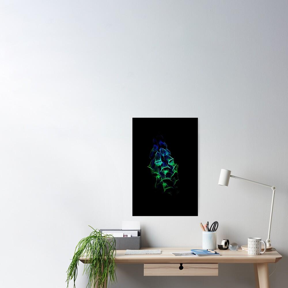 Fantastical Phosphorescent Foxglove Poster