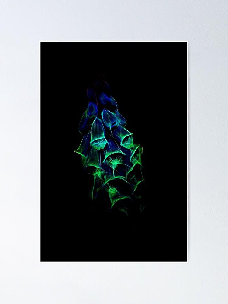 Alternate view of Fantastical Phosphorescent Foxglove Poster