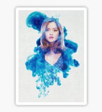 Clara Oswin Oswald Blue Smoke Sticker