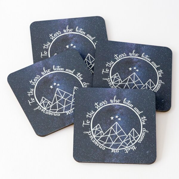 ACOTAR - to the stars who listen  Coasters (Set of 4)