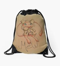 Pokémon Mew with Sweatshirt Drawstring Bag