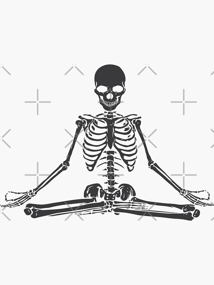 Meditating Skeleton by shaylikipnis