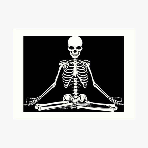 Meditating Skeleton Art Print