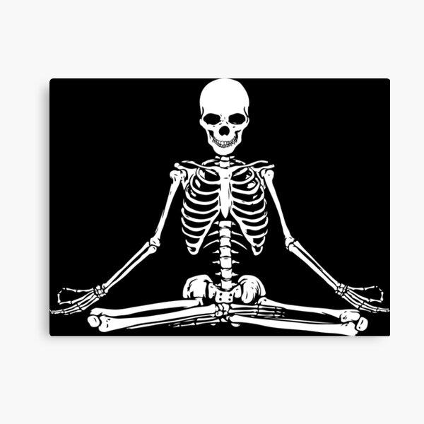 esqueleto haciendo yoga Lienzo