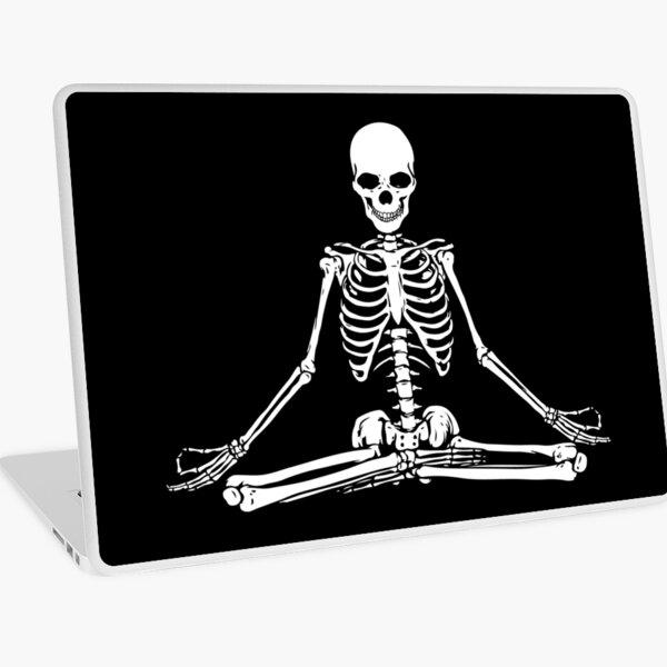 Meditating Skeleton Laptop Skin