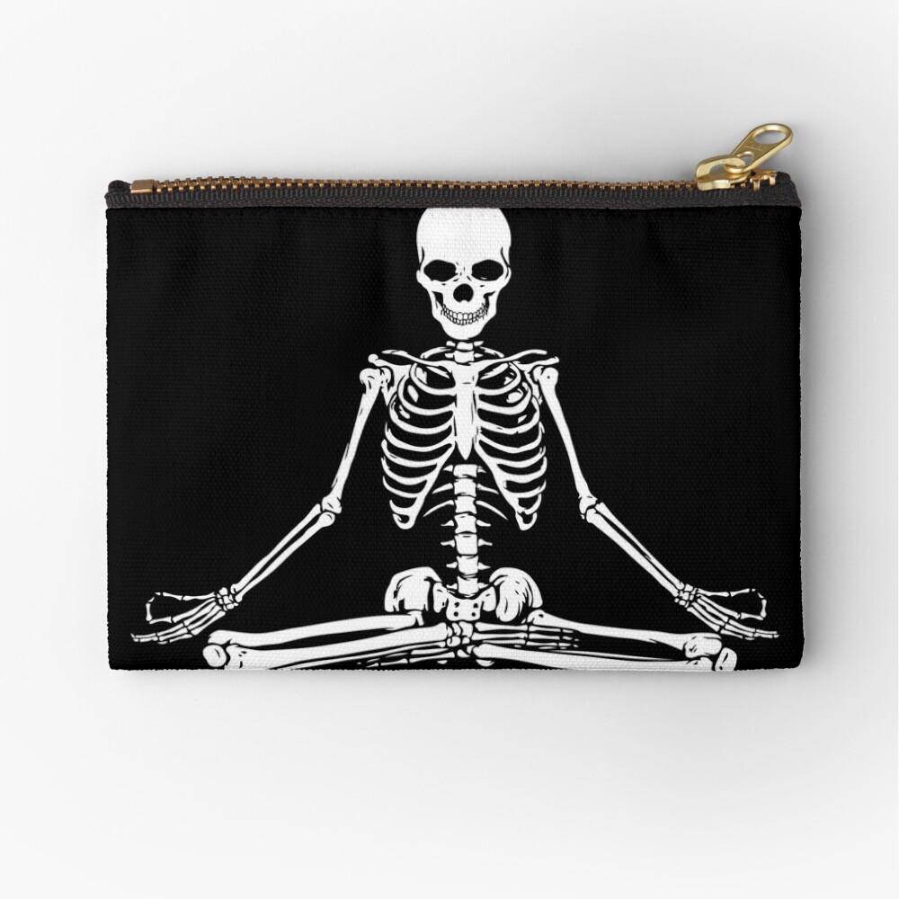 Esqueleto Meditando Bolsos de mano
