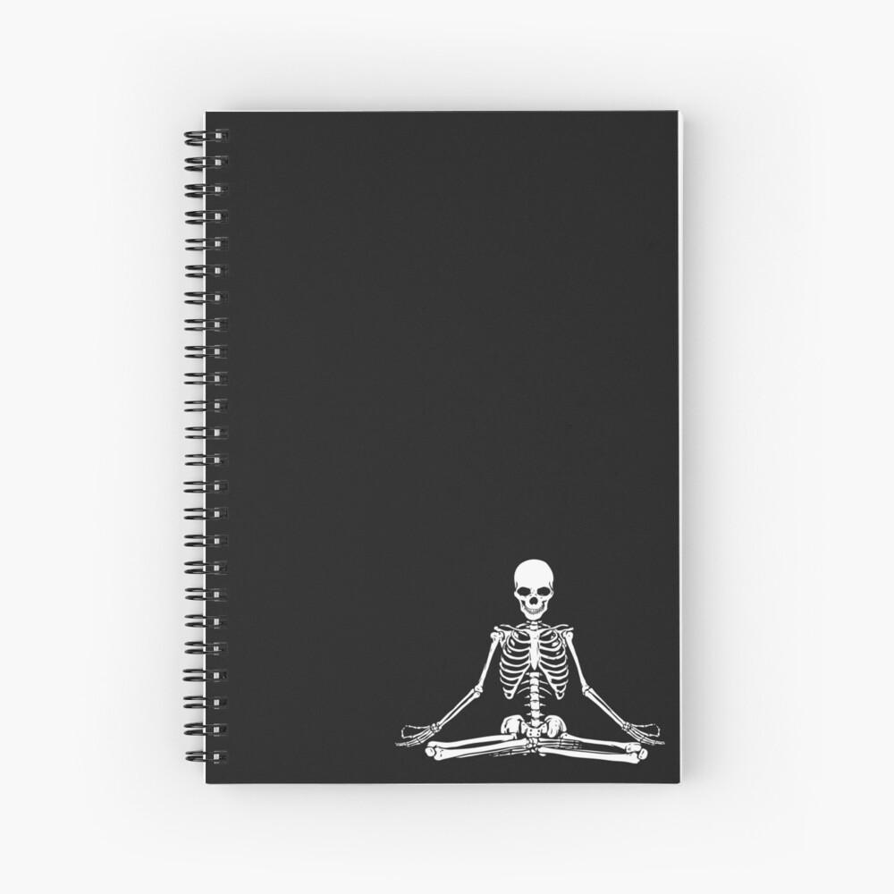 Esqueleto Meditando Cuaderno de espiral