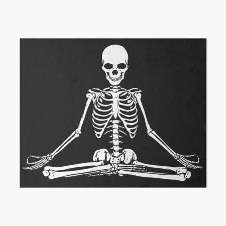Meditating Skeleton Art Board Print