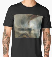 Turner, Snow Storm, Steam Boat off a Harbour's Mouth, 1842 Men's Premium T-Shirt