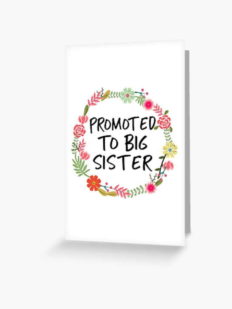Big Sister Announcement Cards
