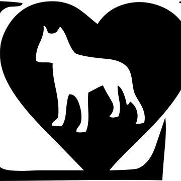 I love my dog logo in black by jonres