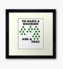 Decision Trees: How to Decide Framed Print