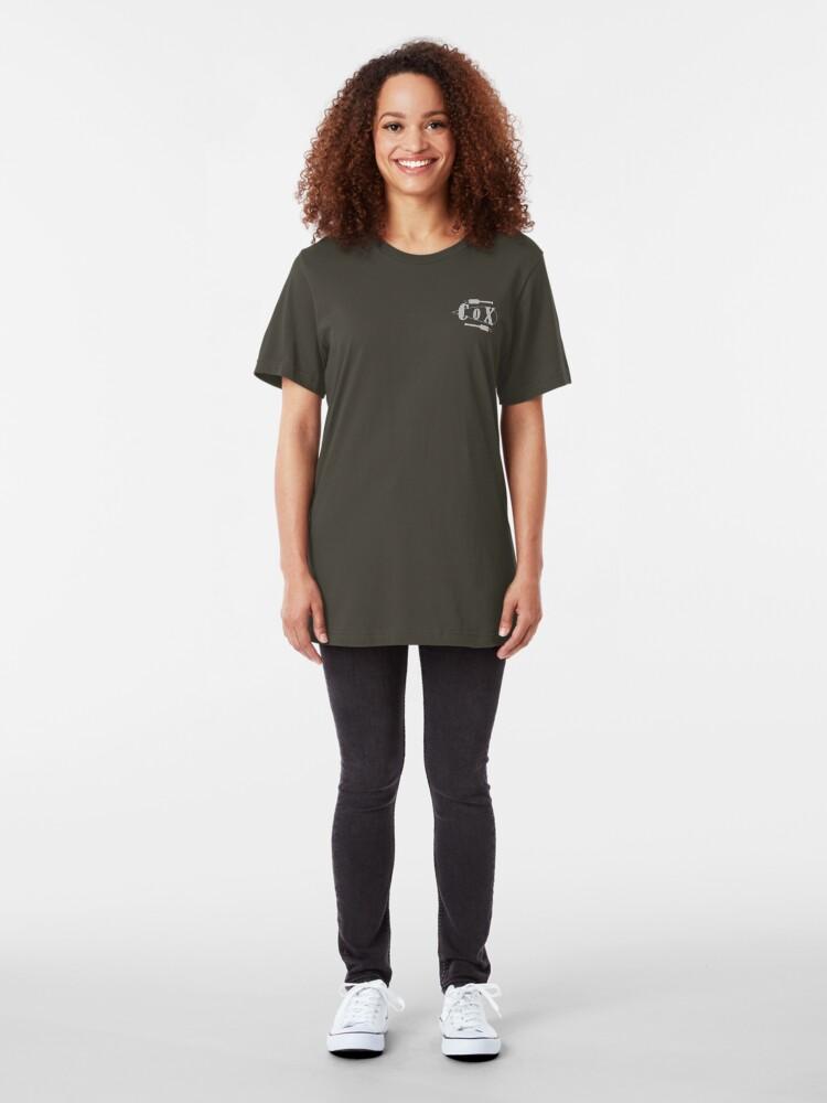 Alternate view of Cox Oar Pocket size Slim Fit T-Shirt