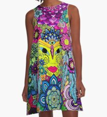 3 Chakras Drawing on Paper - Art&Deco By Natasha A-Line Dress