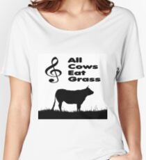 Music Mnemonic - All Cows Eat Grass Women's Relaxed Fit T-Shirt
