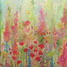 Poppy Meadow watercolour Painting by Penny Bonser