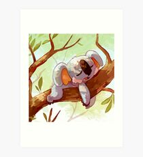 Pokémon Komala Art Print