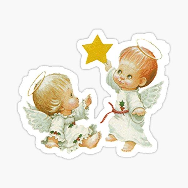 Navidad lindo bebé Ángeles y estrella Pegatina