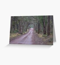 Winery Road   Greeting Card
