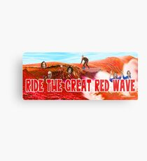 Ride The Great Red Wave Metal Print