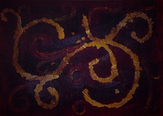 Maroon Swirl by MsSLeboeuf