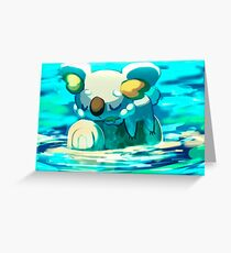Komala in the River Greeting Card