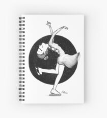 Ice skating girl Spiral Notebook