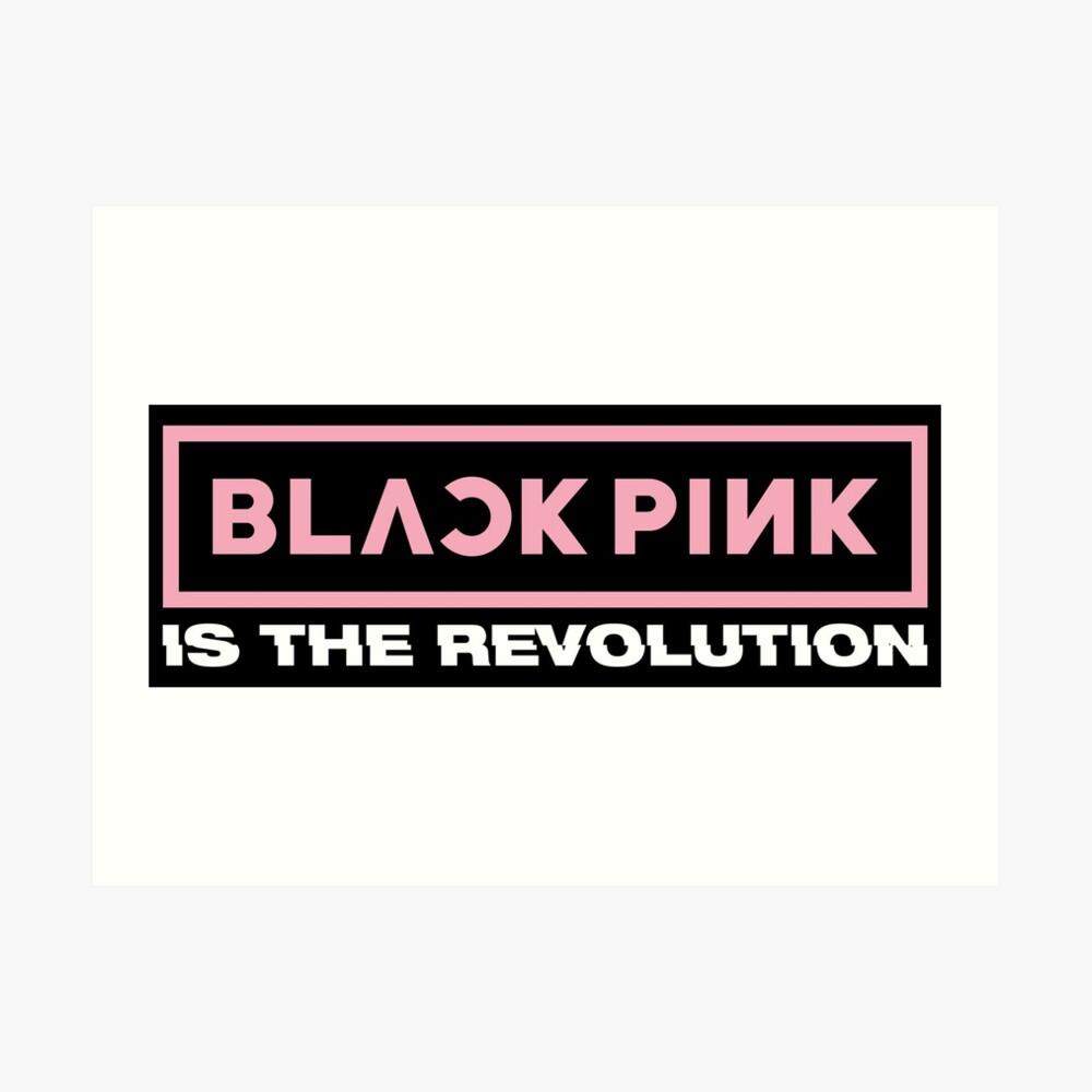 Blackpink - Square Up: Blackpink Is The Revolution (Logo)   Art Print