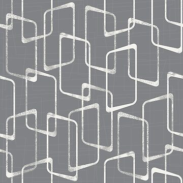 Retro Medium Gray Lino Print Pattern by itsjensworld