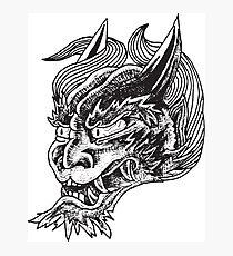 Japanese Oni Head Photographic Print