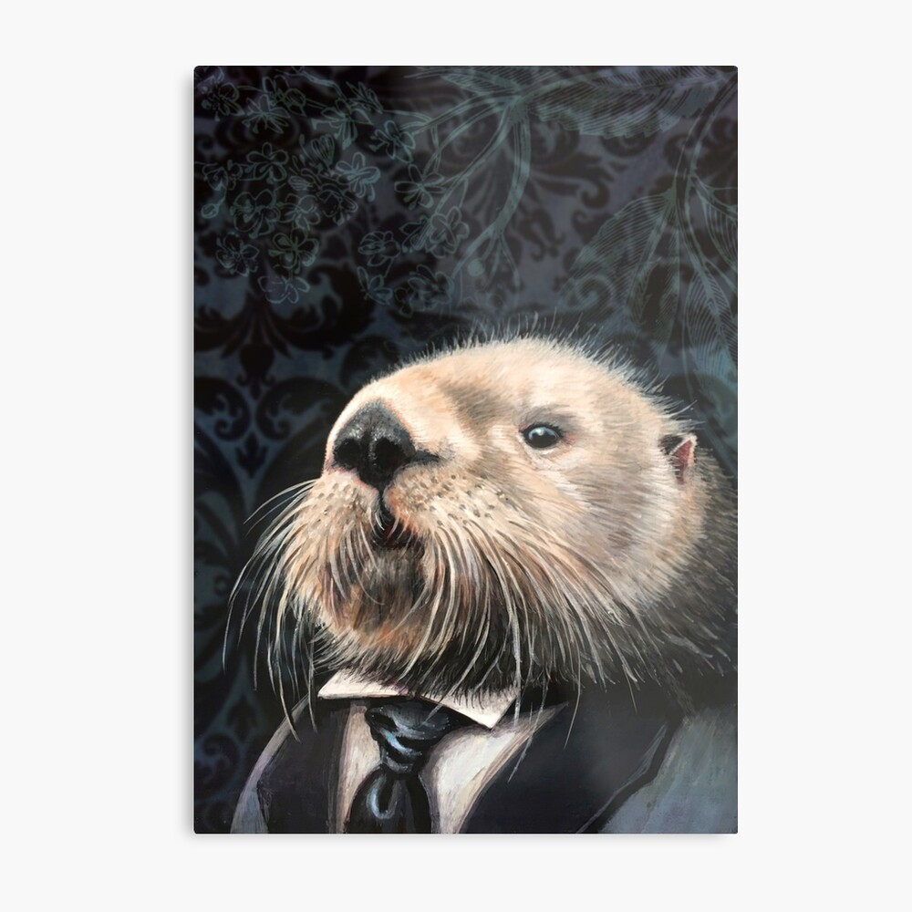 A Dapper Sea Otter Metal Print