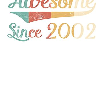Awesome Since 2002 Vintage Retro by funny-gift