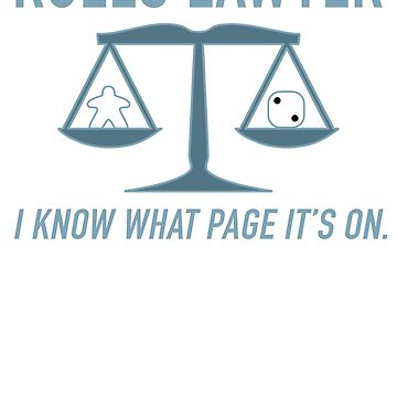 Rules Lawyer - I know what page it's on. by HeartBoardGames