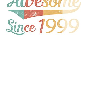 Awesome Since 1999 Vintage Retro by funny-gift