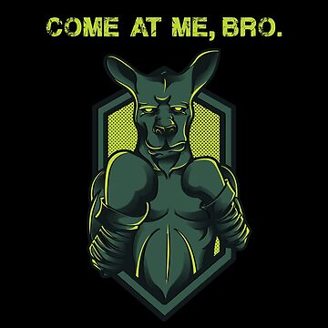 Vintage Wild Kangaroo Boxing Fight | Come At Me Bro T-Shirt by JohnPhillips