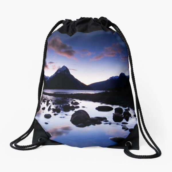 Milford Sound, Last Glow Drawstring Bag