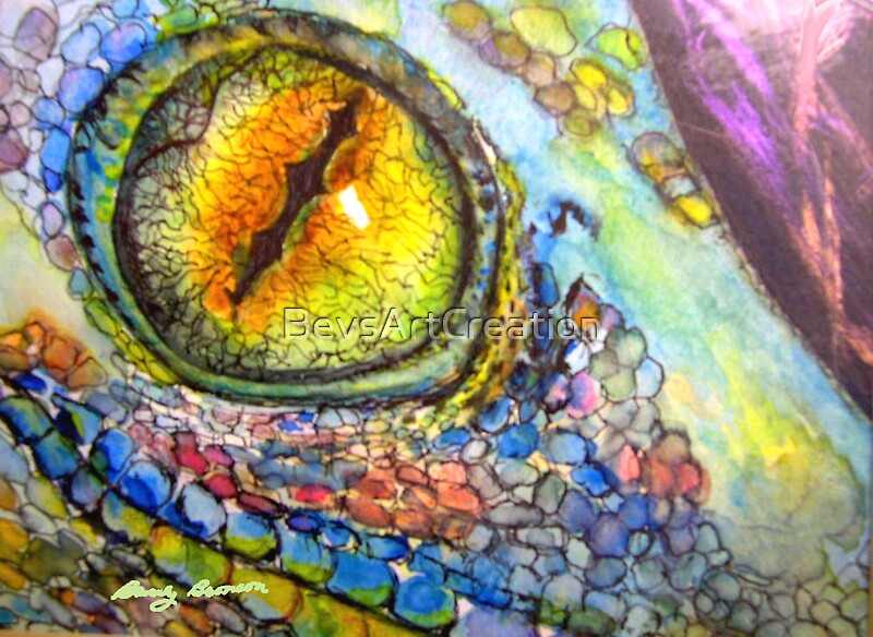Quot Lizard Eye Quot By Bevsartcreation Redbubble