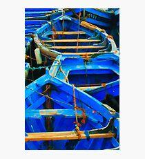 Blue Boats I - Essaouira, Morocco. Photographic Print