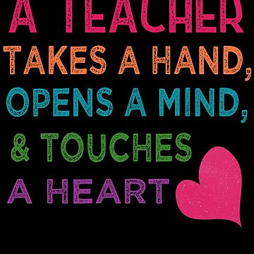 Back to School Gift T-shirt for Teachers Hand Mind Heart by cssdru