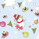 Colorful Christmas Collage 1 by Digitalbcon