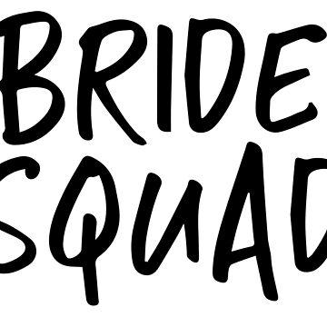 Bride Squad Bridal Shower Gift Idea Bachelorette Party Hen Do by CarbonClothing