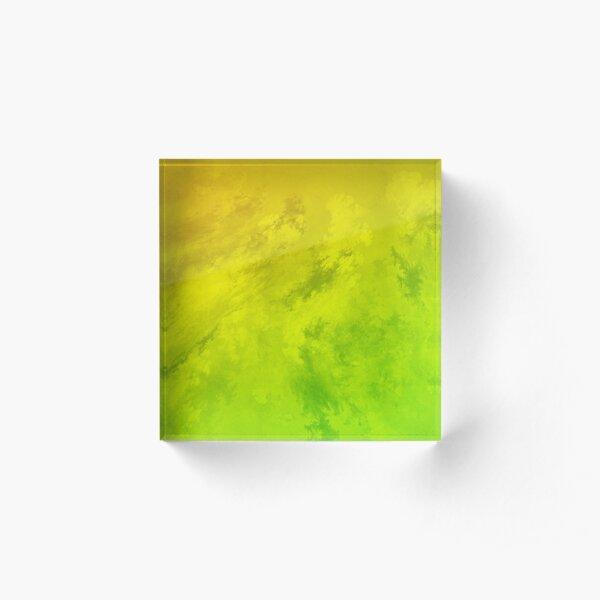 lemon lime abstract swirl Acrylic Block