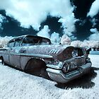 Abandoned 1958 Chevy Belair - infrared by mal-photography
