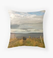 Hoxa Head and the Pentland Firth Throw Pillow