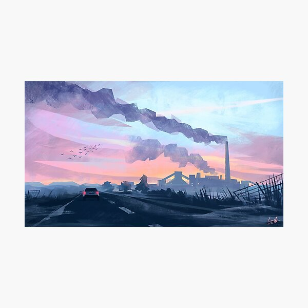 Frost Factory Photographic Print