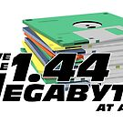 1.44 Megabytes at a time by mark5four0