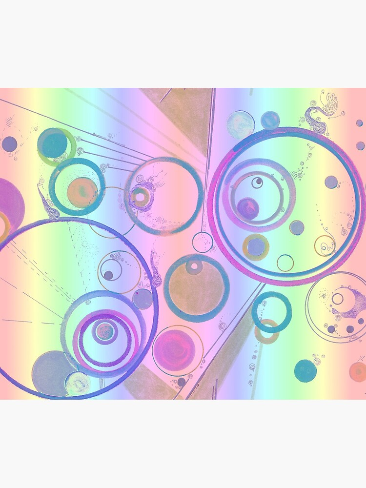 Odd encapsulations pastel psychedelic design for clothing and decor by rvalluzzi