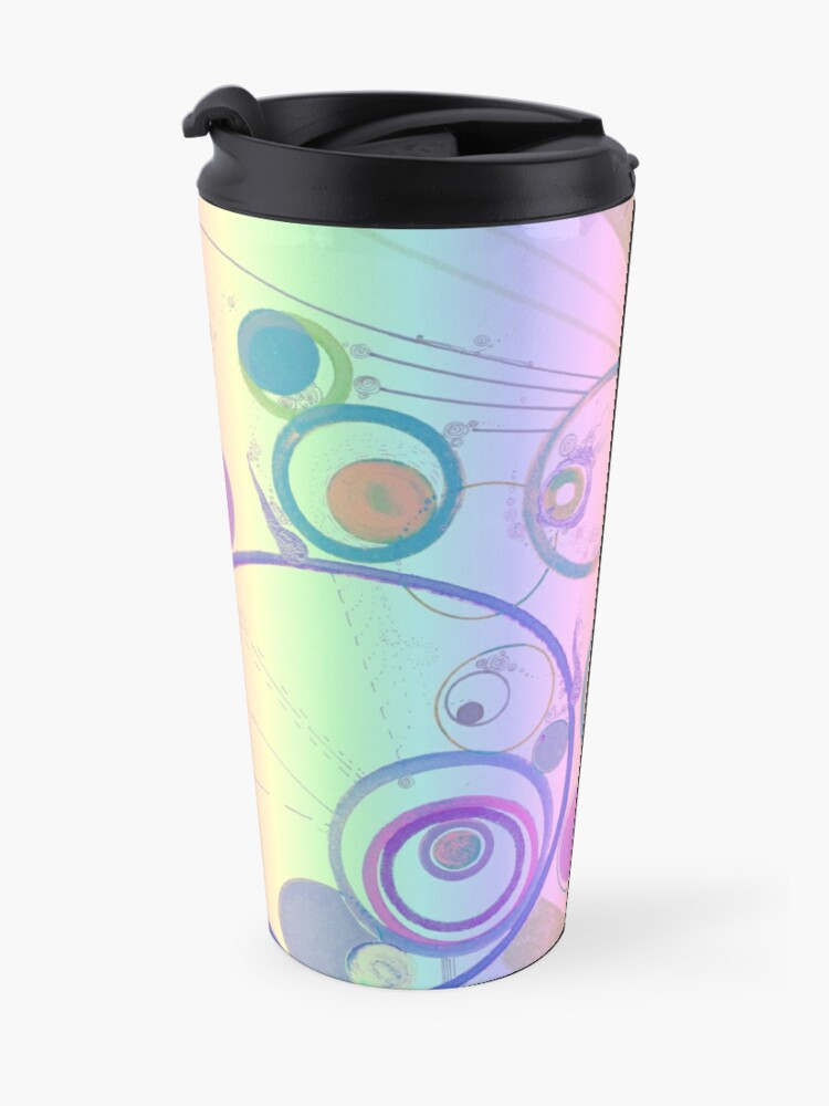 Alternate view of Odd encapsulations pastel psychedelic design for clothing and decor Travel Mug