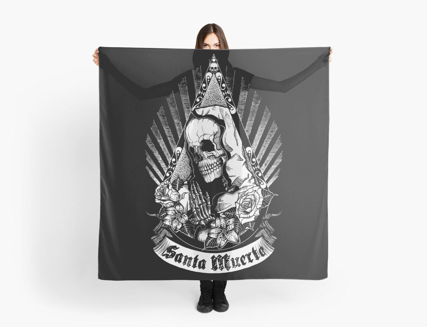 Santa Muerte Scarf By Tolestyle Redbubble